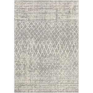 Elaziz Grey Rectangular: 7 Ft. 10 In. x 10 Ft. 3 In. Rug