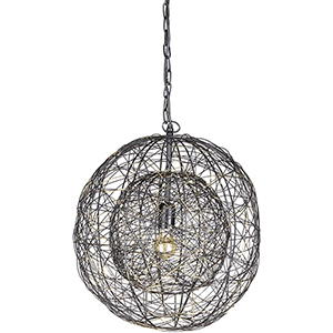 Emory Black One-Light Pendant
