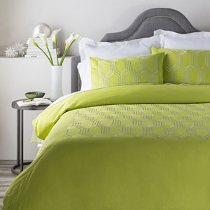 Empire Lime Twin Duvet Set