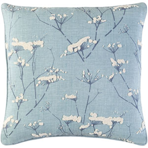 Enchanted Blue 20-Inch Pillow with Down Fill