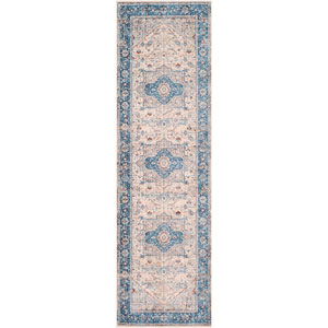 Ephesians Blue Runner: 2 Ft. 7 In. x 9 Ft. Rug