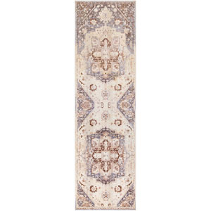 Ephesians Cream and Gray Runner: 2 Ft. 7 In. x 9 Ft. Rug