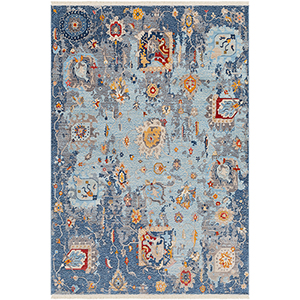 Ephesians Aqua Rectangular: 2 Ft. 7 In. x 9 Ft. Rug