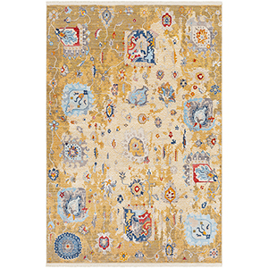 Ephesians Saffron Rectangular: 2 Ft. 7 In. x 5 Ft. Rug