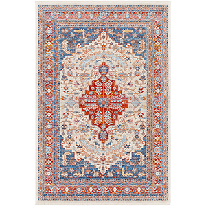 Ephesians Red and Blue Rectangular: 2 Ft. x 3 Ft. Rug