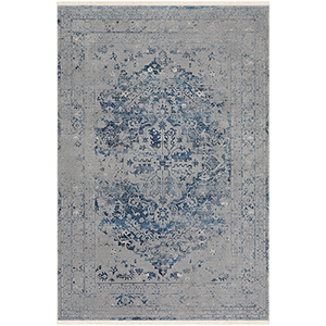 Ephesians Grey and Blue Rectangular: 2 Ft. x 3 Ft. Rug