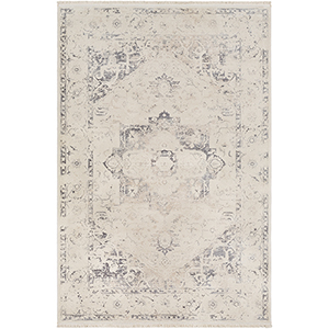 Ephesians Beige and Grey Rectangular: 2 Ft. x 3 Ft. Rug