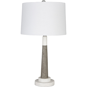 Ellison White and Gray One-Light Table Lamp