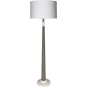 Ellison White and Gray One-Light Floor Lamp