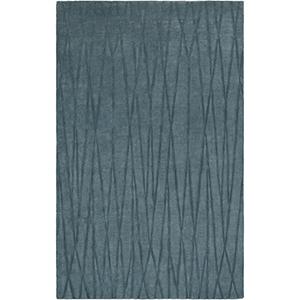 Etching Blue Rectangular: 5 Ft. x 8 Ft. Rug