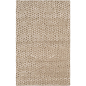 Etching Taupe Rectangular: 5 Ft. x 8 Ft. Rug