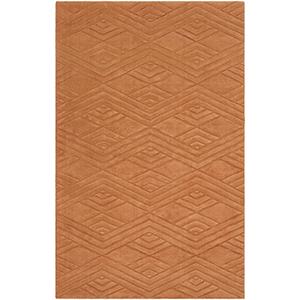 Etching Orange Rectangular: 5 Ft. x 8 Ft. Rug