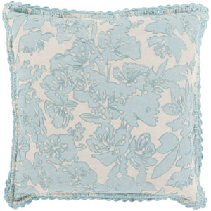 Evelyn Gray and Green 18-Inch Pillow Cover