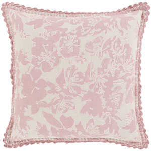 Evelyn Gray and Pink 20-Inch Pillow Cover