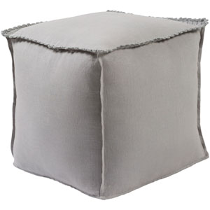 Evelyn Gray Cube Pouf