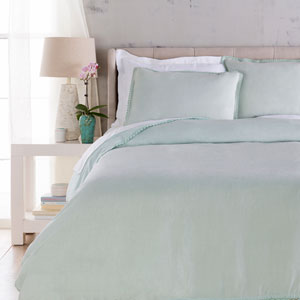 Evelyn Blue Three-Piece King Duvet Set