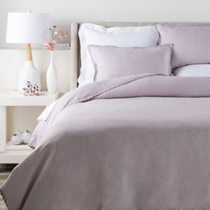 Evelyn Lilac King Bed Skirt