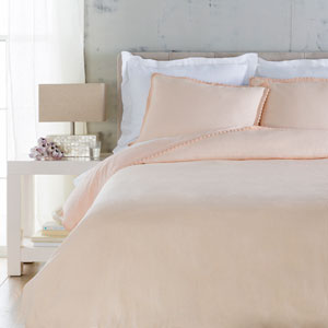 Evelyn Pink Three-Piece King Duvet Set