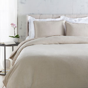 Evelyn Neutral Three-Piece King Duvet Set