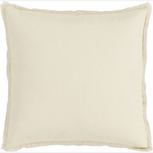 Simply Linen Beige and Gray 22-Inch Pillow with Down Fill
