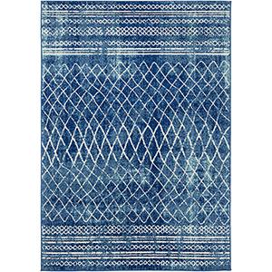 Elaziz Blue Rectangular: 5 Ft. 3 In. x 7 Ft. 6 In. Rug