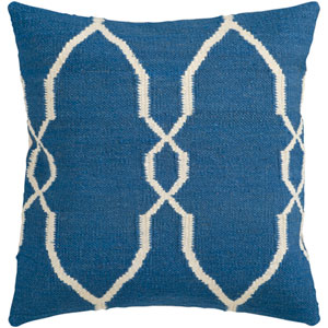 Fallon Blue and Neutral 22-Inch Pillow Cover
