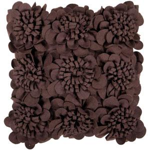 Espresso Dimensional Flower 22 x 22 Pillow