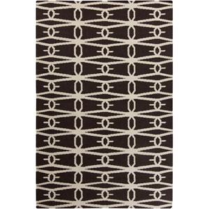 Fallon Black and Cream Rectangular: 5 ft. x 8 ft. Rug