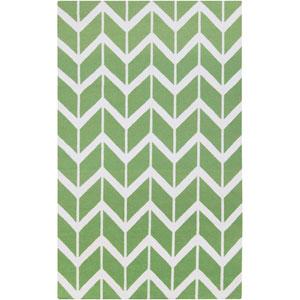 Fallon Teal Green and Winter White Rectangular: 5 Ft. x 8 Ft. Rug