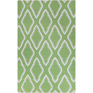 Fallon Teal Green and Dove Gray Rectangular: 5 Ft. x 8 Ft. Rug