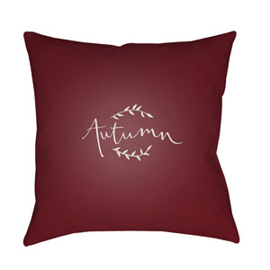 Red Fall 18-Inch Throw Pillow with Poly Fill