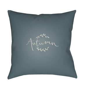 Blue Fall 20-Inch Throw Pillow with Poly Fill