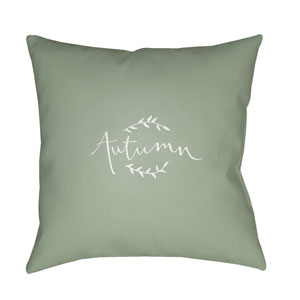 Green Fall 18-Inch Throw Pillow with Poly Fill