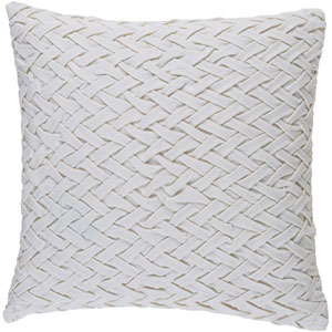 Facade Ivory 18-Inch Pillow with Down Fill