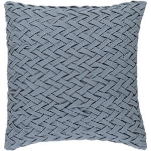 Facade Medium Grey 22-Inch Pillow with Poly Fill