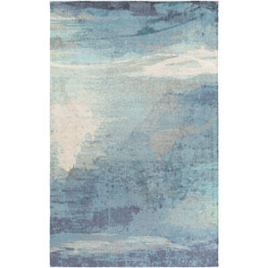 Felicity Slate and Sky Blue Rectangular: 2 Ft x 3 Ft Rug