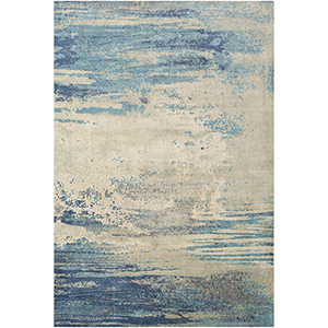 Felicity Blue and Cream Rectangular: 5 Ft. x 7 Ft. 6 In. Rug