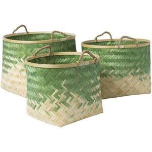 Forrestburg Butter and Grass Green Basket