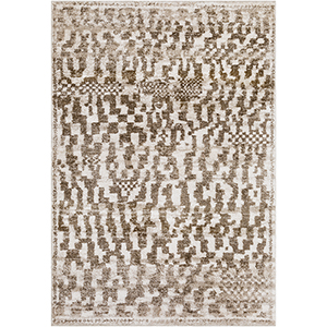 Flokati Brown and White Rectangular: 5 Ft. 3 In. x 7 Ft. 6 In. Rug