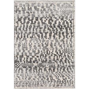 Flokati Black and White Rectangular: 2 Ft. x 3 Ft. Rug