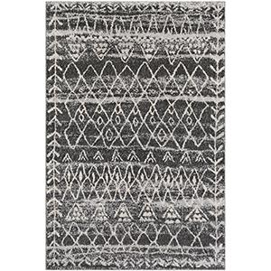 Flokati Black and Grey Rectangular: 2 Ft. x 3 Ft. Rug