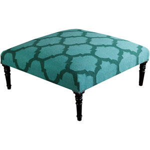 Hawthrone Teal and Forest Ottoman