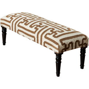 Weston Beige and Chocolate Ottoman