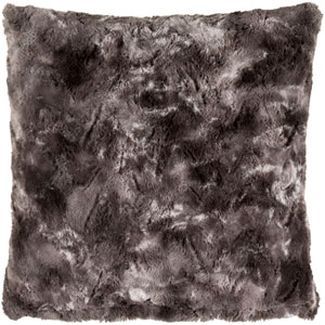 Felina Charcoal and Light Gray 18-Inch Pillow with Poly Fill