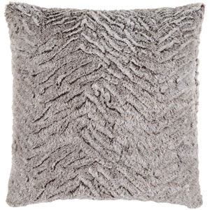 Felina Light Gray and Ivory 18-Inch Pillow with Poly Fill
