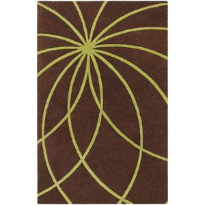 Forum Chocolate and Lime Rectangular: 5 Ft. x 8 Ft. Rug