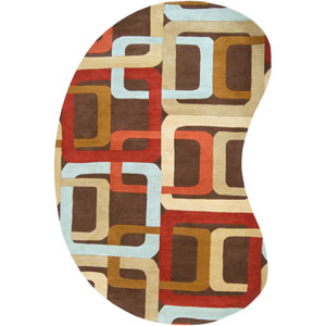 Forum Chocolate and Red Kidney: 6 ft. x 9 ft. Rug
