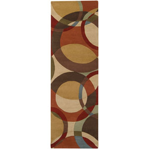 Forum Chocolate and Gold Rectangular: 2 ft. 6 in. x 8 ft. Runner