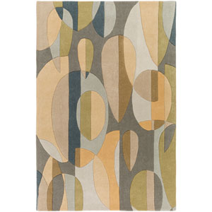 Forum Blue and Green Rectangular: 2 Ft. x 3 Ft. Area Rug
