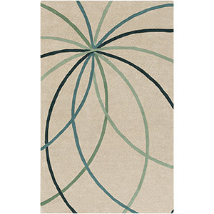 Forum Green Rectangular: 5 Ft. x 8 Ft. Rug
